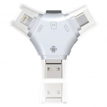 (NO.8302A/B)獵豹四合一OTG讀卡機(USB/Micro USB/Type-C/8pin)